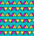 Seamless vintage abstract pattern with triangles vector image vector image