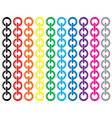set of colorful metal chains vector image vector image