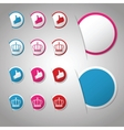 Set of trendy paper labels stickers for websites vector image vector image