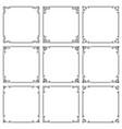 set square frames with elegant floral ornament vector image vector image
