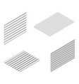 sheet of wave slate and steel profile in isometric vector image vector image