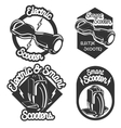 Smart Self Balancing Electric Scooter emblems vector image