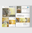 social media posts set business templates cover vector image vector image