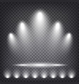 stage podium illuminated with light on transparent vector image
