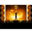 star on stage with crowd vector image vector image