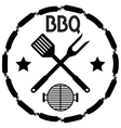 Style BBQ Barbecue Menu Stamp vector image