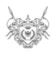 sumptuous coat arms embossed heraldic shield vector image vector image