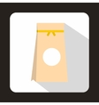 Tea packed in a paper bag icon flat style vector image vector image
