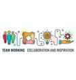 teamwork collaboration banner vector image vector image