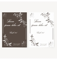 template for folder business card and vector image vector image