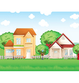Two big houses vector image vector image