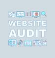 website audit word concepts banner vector image vector image
