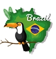 welcome to brazil representing icons vector image vector image