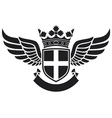 wings -coat of arms vector image vector image