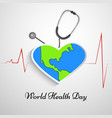world health day background vector image
