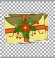 xmas postcard vintage christmas pattern greeting vector image vector image