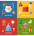 Christmas greeting or invitation cards and banners vector image