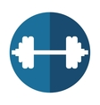 barbell weights symbol sport vector image