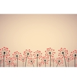 Abstract background with dandelions vector image