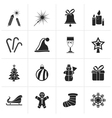 Black Christmas and new year icons vector image vector image