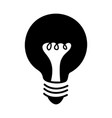 black icon bulb cartoon vector image