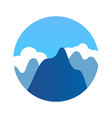 blue mountains in clean weather vector image