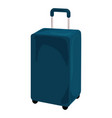 blue travel bag icon cartoon style vector image vector image
