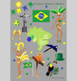 brazilian elements collection vector image