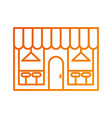 cafe shop exterior street restraunt building with vector image vector image