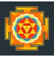 colored baglamukhi yantra vector image vector image
