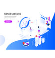 data statistics isometric concept modern flat vector image vector image