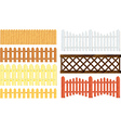 fences set vector image