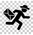 gentleman mail courier icon vector image vector image