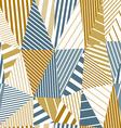 Geometric stripy seamless pattern vector image vector image