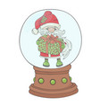 gift santa merry christmas new year vector image