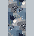 grey flower seamless pattern floral design vector image