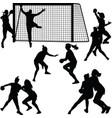 handball woman player vector image vector image