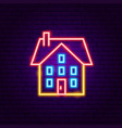 home building neon sign vector image vector image