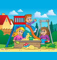 image with playground theme 2 vector image vector image