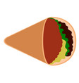 isolated taco icon vector image vector image