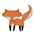 light colored hand drawn silhouette of fox vector image