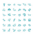line animals concepts icons set vector image