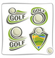 logo golf ball vector image