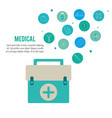 medical health care emergency kit vector image vector image