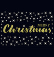 merry christmas lettering with sparkle stars vector image vector image