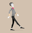 Mime performance - walking in place vector image vector image