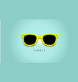 minimalistic summer background with sunglass vector image vector image