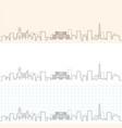 minsk hand drawn skyline vector image vector image