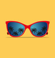 modern sunglasses with palms reflection vector image vector image