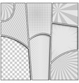 monochrome comic composition vector image